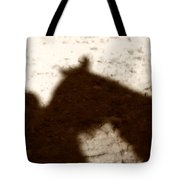 Shadow Of Horse And Girl Tote Bag