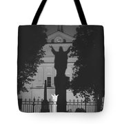 Shadow Of Jesus Tote Bag