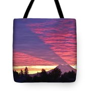 Shadow Of Mount Rainier Tote Bag by Sean Griffin