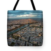 Shadow Of The Eiffel Tower Tote Bag