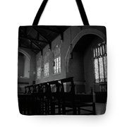 Shadow Of The Empty Chairs Tote Bag