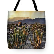 Shadow Valley Sunset Portrait Tote Bag by Kyle Hanson