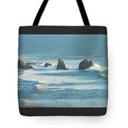 Shadowed Waves Tote Bag