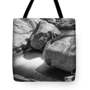 Shadows Of A Creek In Black And White Tote Bag