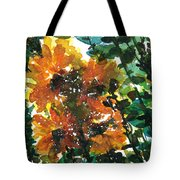 Shadows Of Sunflowers Tote Bag