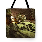 Shadows Of Winters Night Tote Bag