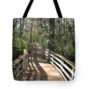 Shadows On A Boardwalk Through The Swamp Tote Bag