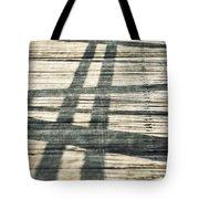 Shadows On A Wooden Board Bridge Tote Bag