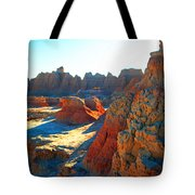 Shadows On The Badlands Tote Bag