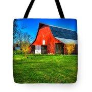 Shadows On The Barn Tennessee Farm Art Tote Bag