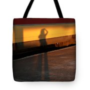 Shadows On The Platform 2 Tote Bag