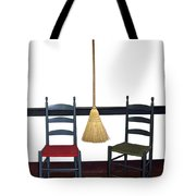 Shaker Chairs And Broom Tote Bag