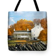 Shaker House And Stone Fence Tote Bag