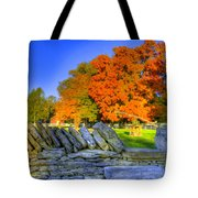 Shaker Stone Fence 7 Tote Bag