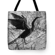 Shaking Off Water, Black And White Tote Bag