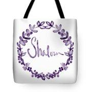 Shalom Wreath- Art By Linda Woods Tote Bag