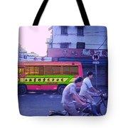 Shanghai Pink Bus Tote Bag