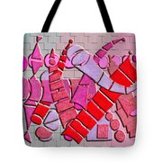 Shape Sets In Red Tote Bag