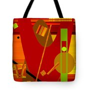 Shapes And Patterns In Red Tote Bag