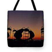 Shapes In The Dawn Tote Bag by Jeremy Hayden