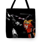 Shaq Protecting The Paint Tote Bag