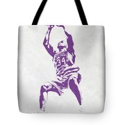 Shaquille O'neal Los Angeles Lakers Pixel Art Tote Bag