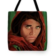 Sharbat Gula From Nat Geo Mccurry 1985 Tote Bag