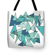 Shards Of Blue Tote Bag