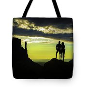 Sharing A Monument Valley Sunrise Tote Bag