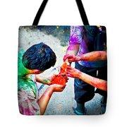 Sharing Colors Sharing Happiness Tote Bag