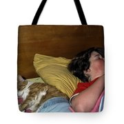 Sharing The Bed Tote Bag
