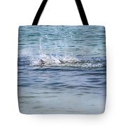 Shark Catching A Fish Tote Bag