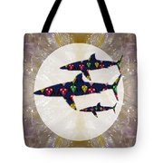 Shark Fish Dangerous Painted Cartoon Face Link For Download Option Below Personal N Commercial Uses Tote Bag