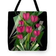 Sharp Blades Of Tulips  Tote Bag