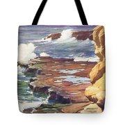 Sharp Rocky Coastline Tote Bag