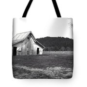 Shasta Barn Tote Bag by Kathy Yates