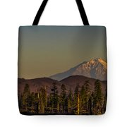 Mt Shasta From Hat Creek Tote Bag