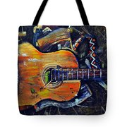 Shattered Melody Tote Bag