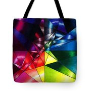 Shattered Rainbow Triangles Optical Art Tote Bag