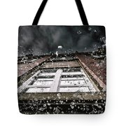 Shattering Pieces Of Glass Falling From Window Tote Bag