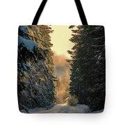 Shawnigan Winter Road Tote Bag