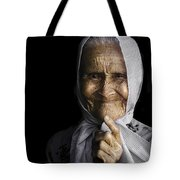 She Bit The Lip To Hide Her Smile Tote Bag