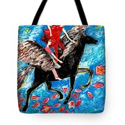 She Flies With The West Wind Tote Bag