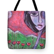 She Loved The Poppies Tote Bag