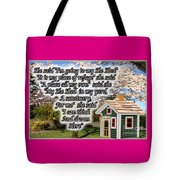 She Shed Tote Bag by Leona Atkinson