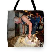 Collie Shearing Shed Tote Bag