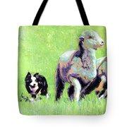 Sheep And Dog Tote Bag