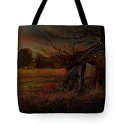 Sheep And Shed Tote Bag