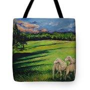 Sheep At Dusk Tote Bag