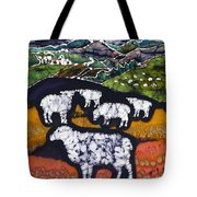 Sheep At Midnight Tote Bag by Carol  Law Conklin
